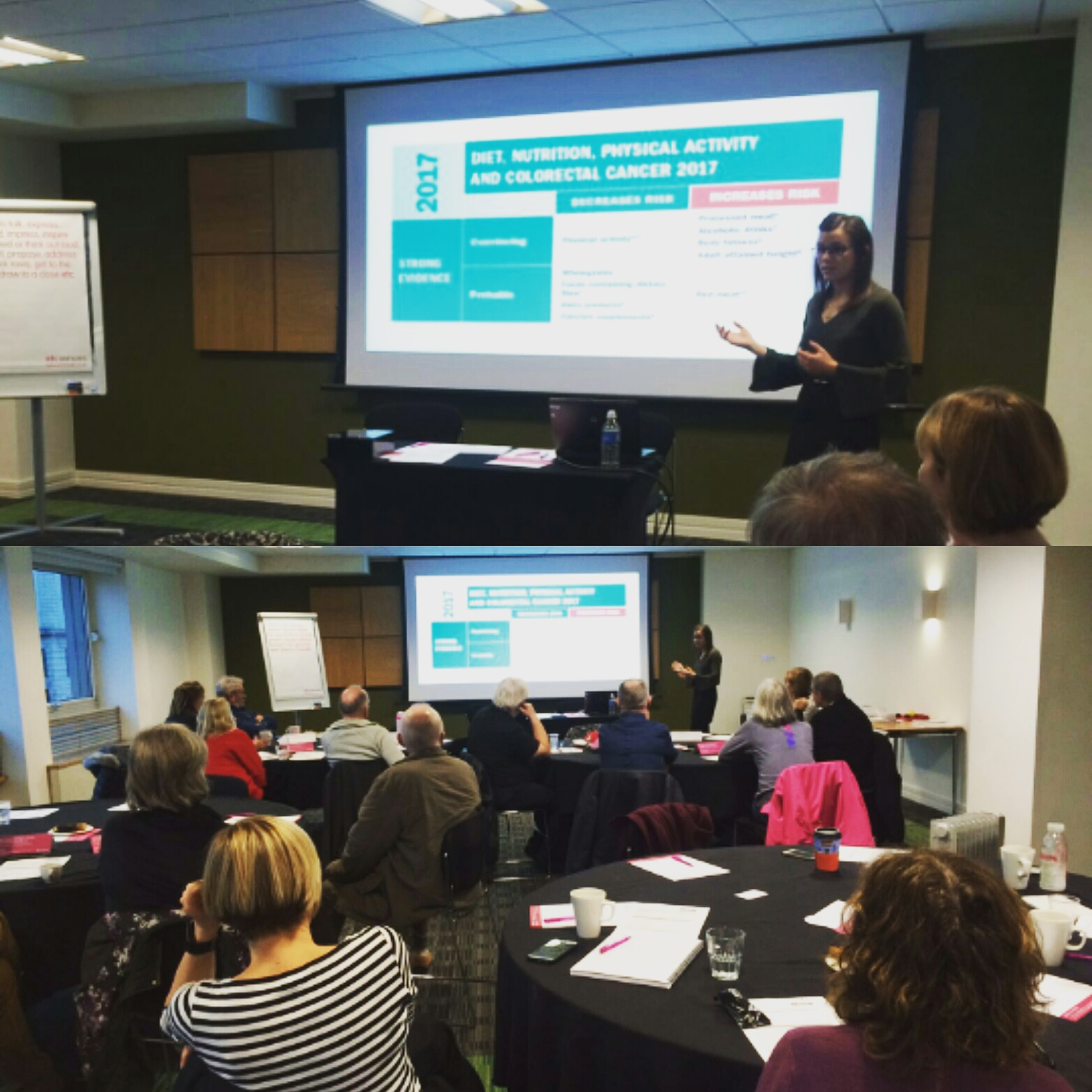 Bowel Cancer UK - Nutrition & Bowel Cancer - Andrea recently spoke to volunteers at Bowel Cancer UK on the latest evidence for nutrition and the risk of bowel cancer.