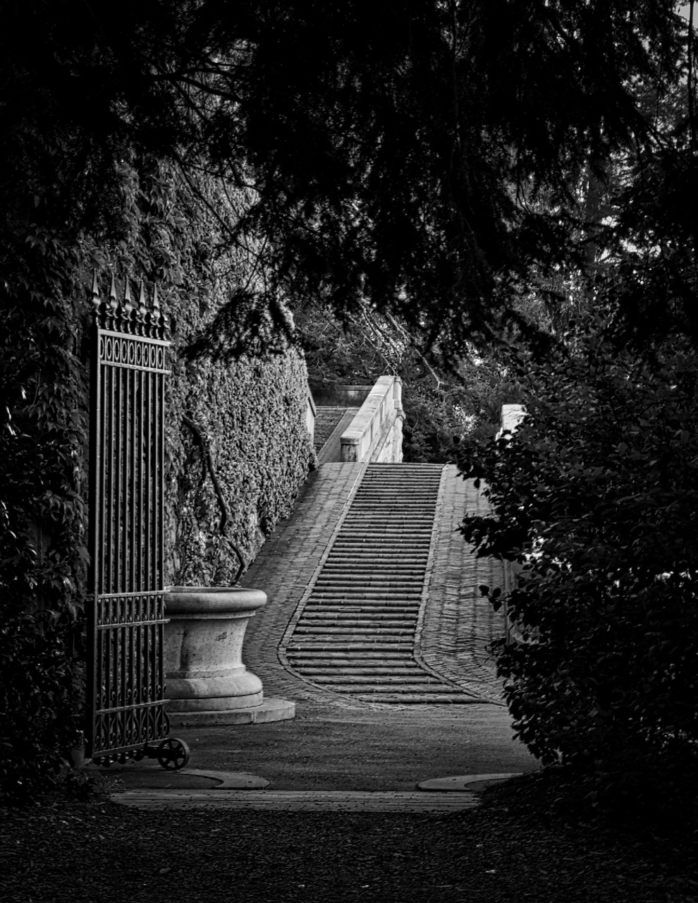 Black & White of the entranceway