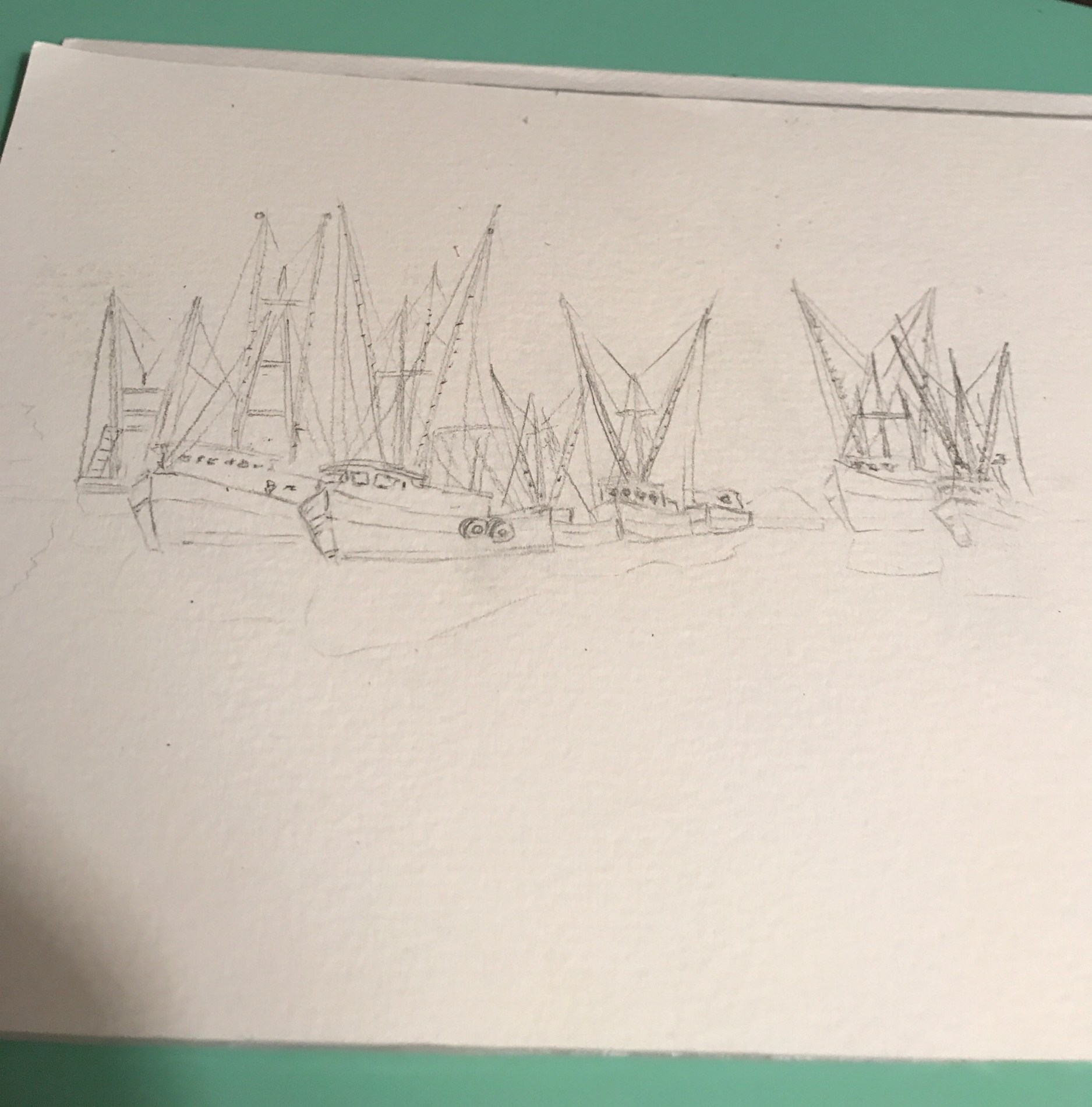 Outlining the boats