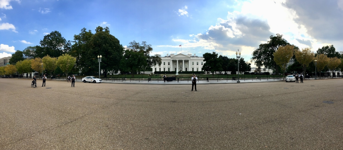 As close as you can get to the White House
