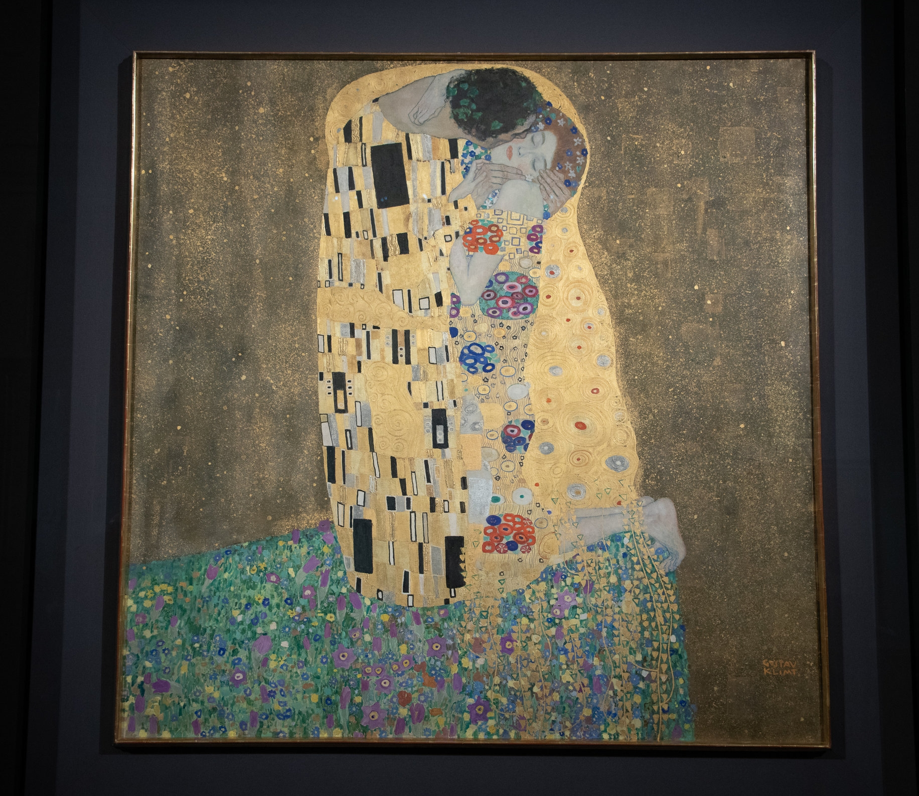And Klimt's masterpiece, The Kiss