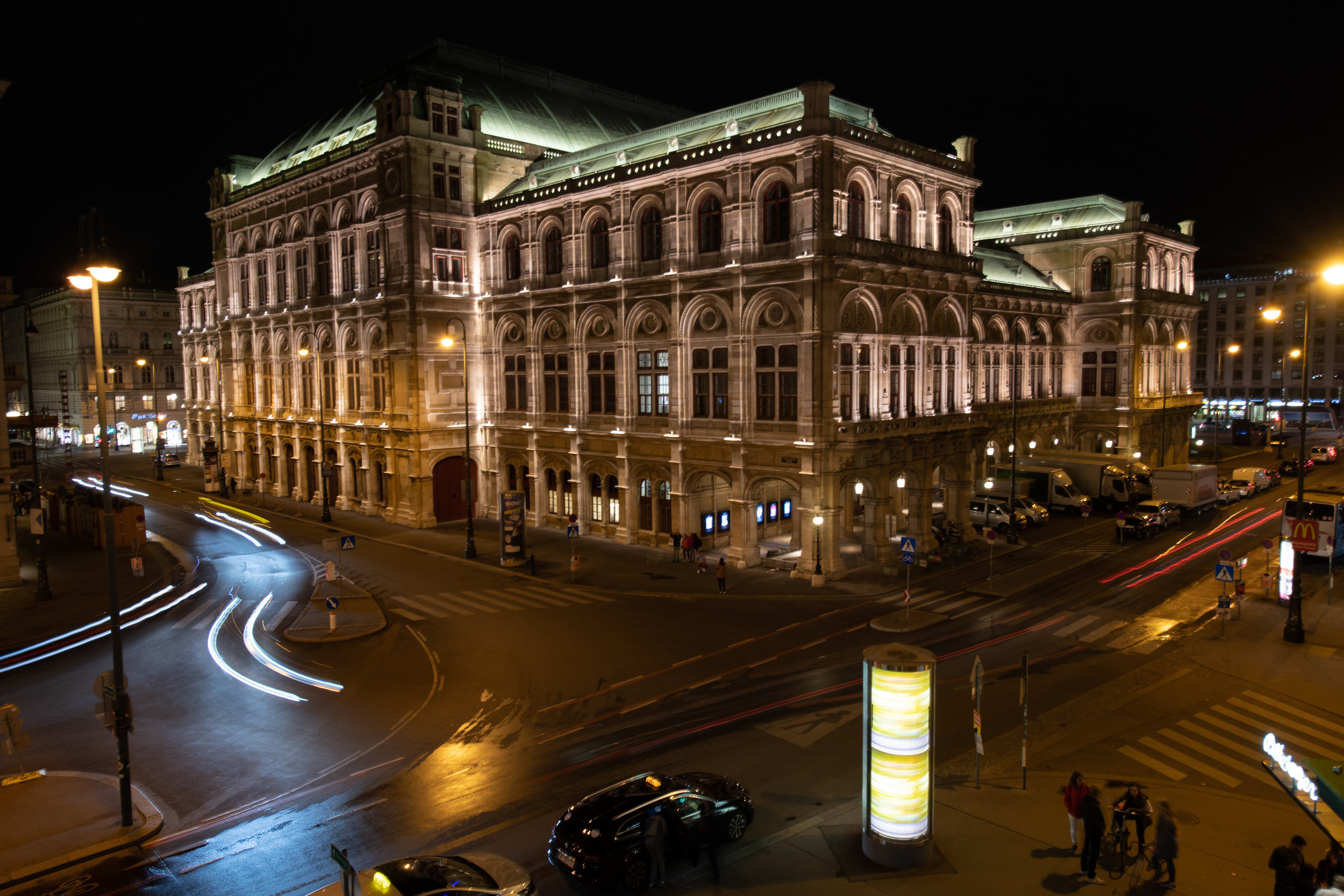One of my favorite night photos, the  Vienna Operahouse