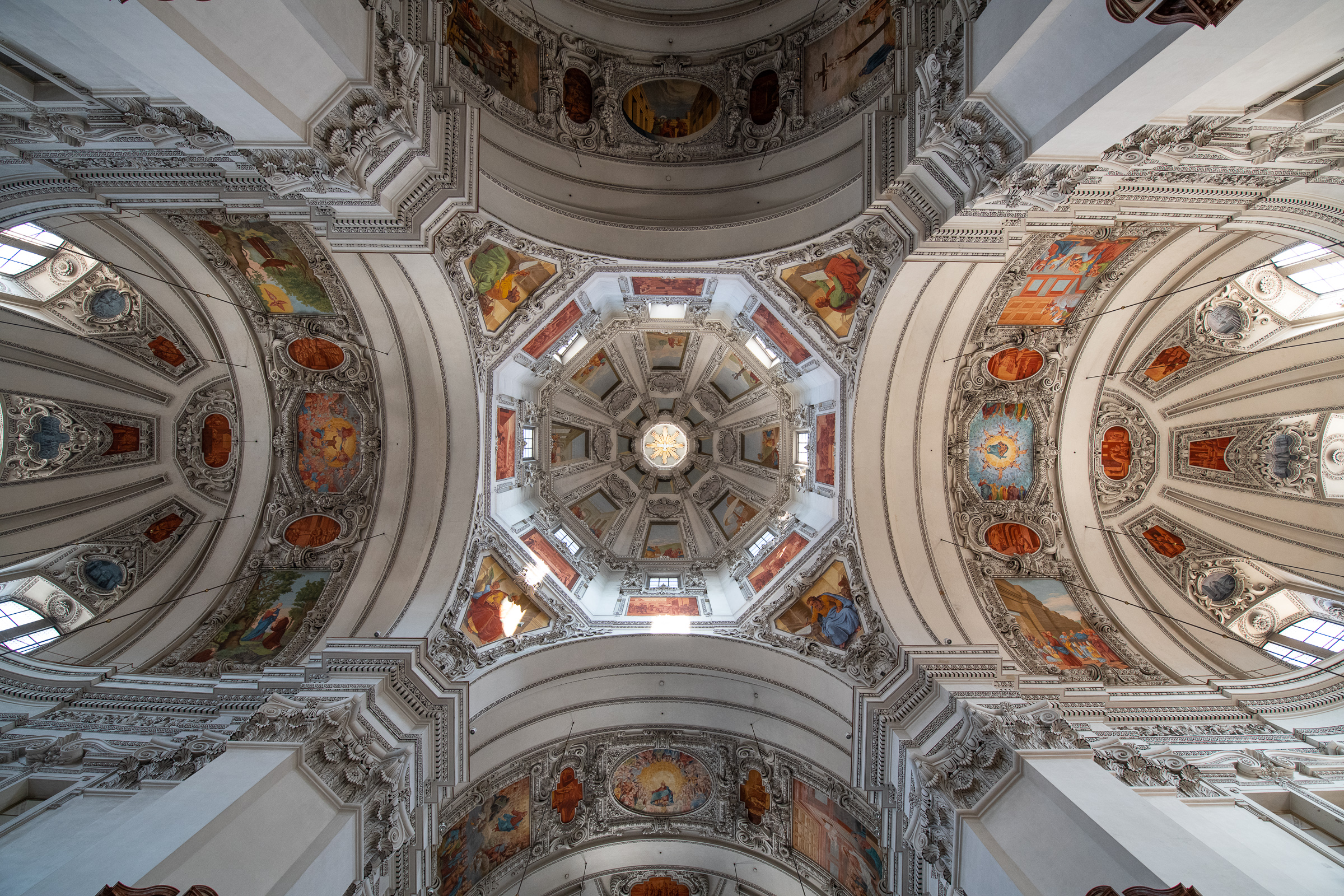 The ceiling of Salzburg Cathedral