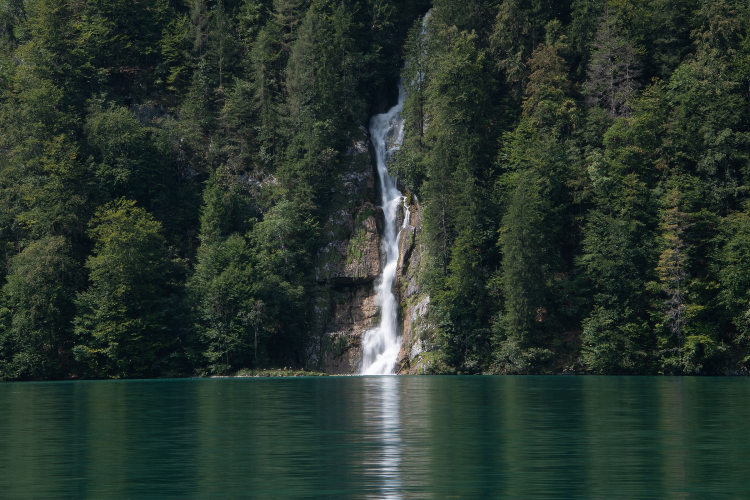 Waterfall into Königssee