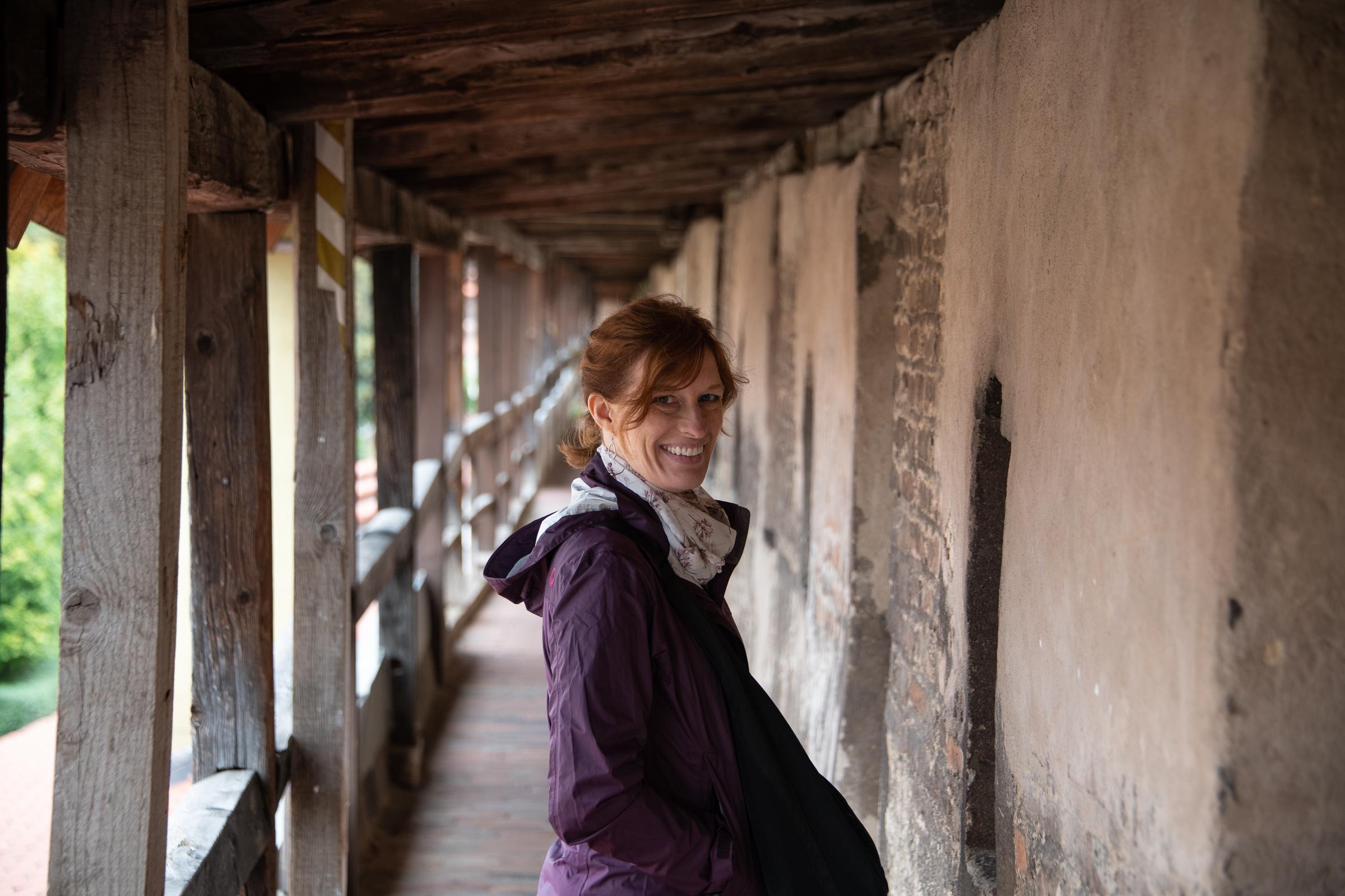Melissa on the Nördlingenwall