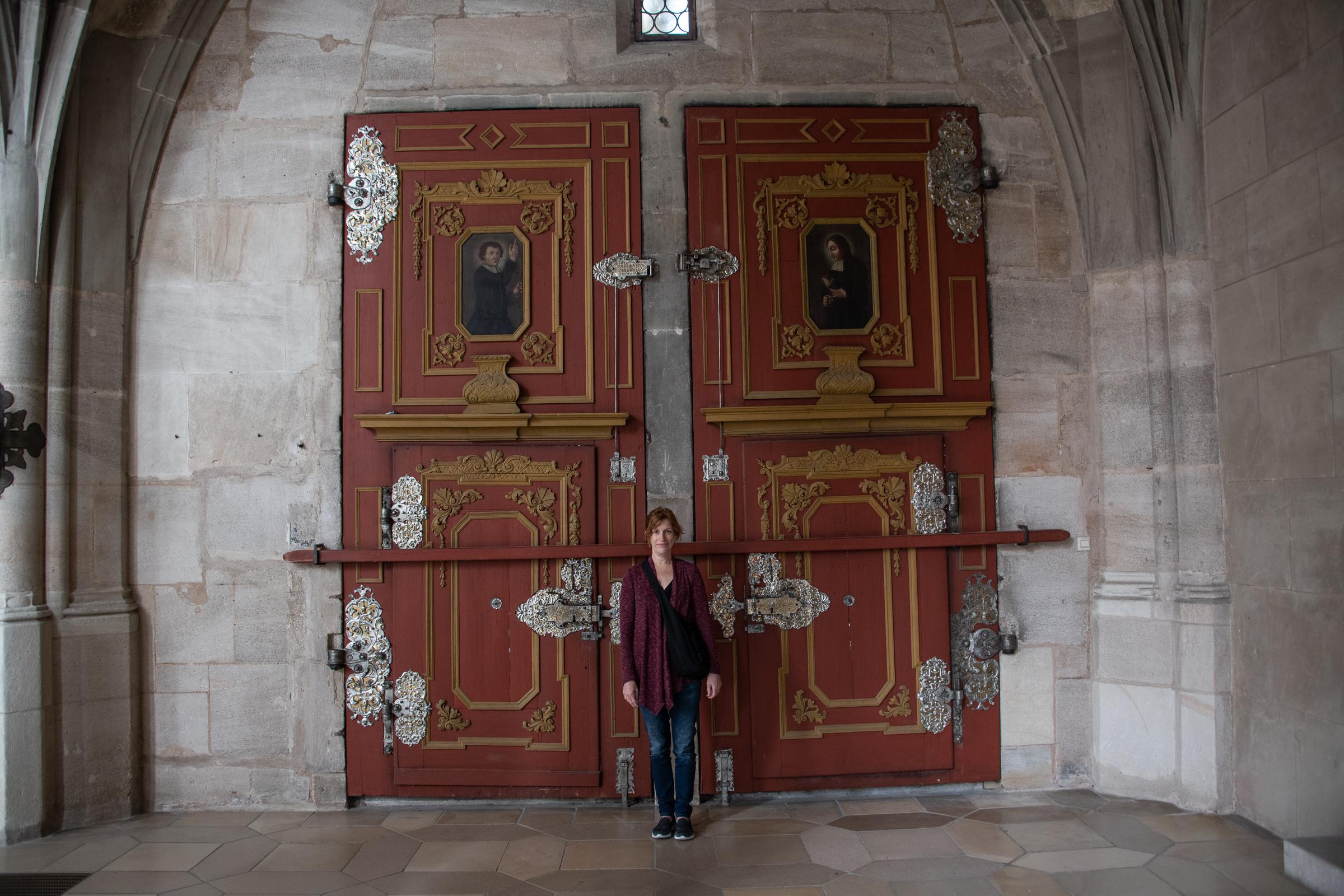 Doors inside the Dinkelsbühl Cathedral