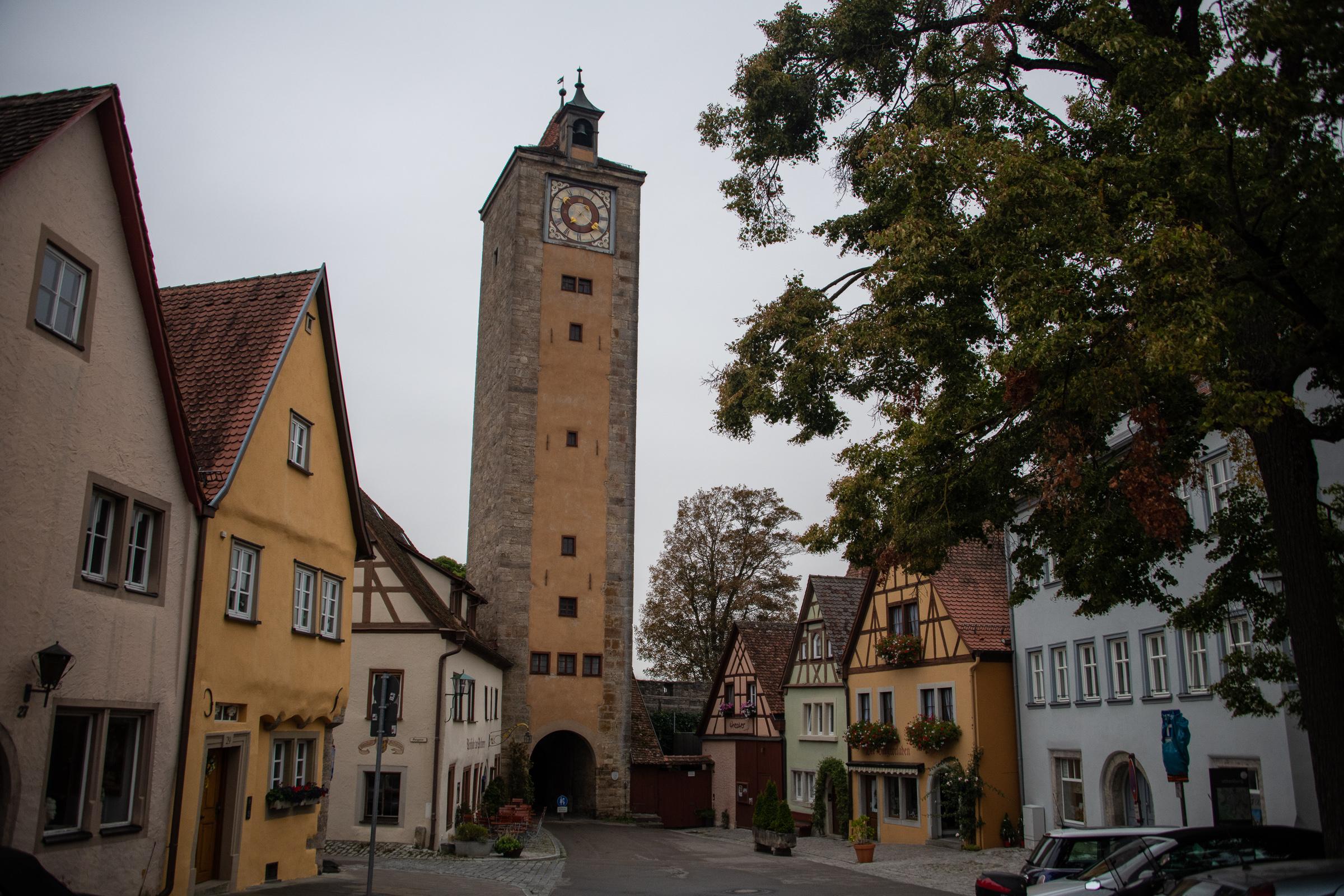 Inside of the Burgtor or Castle Gate