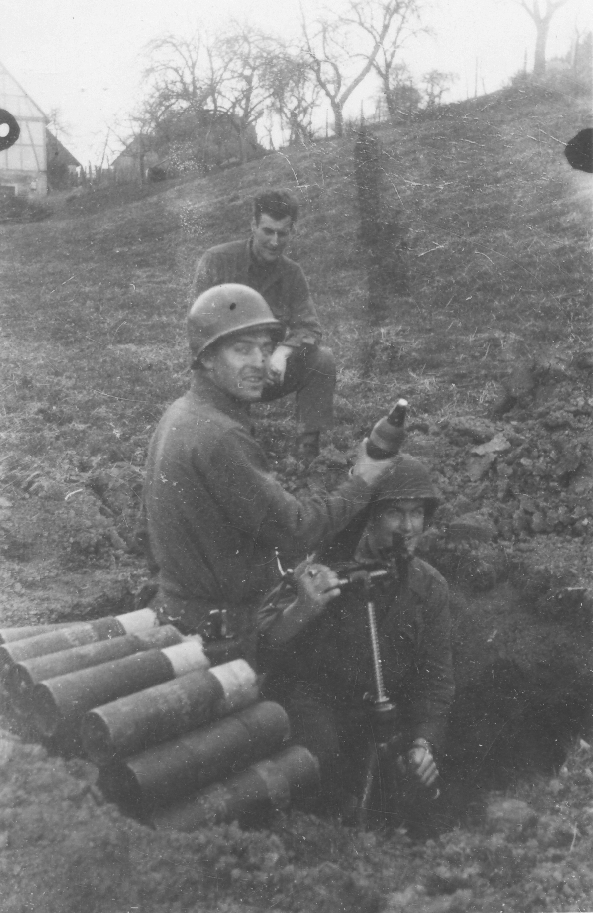 With his mortar crew