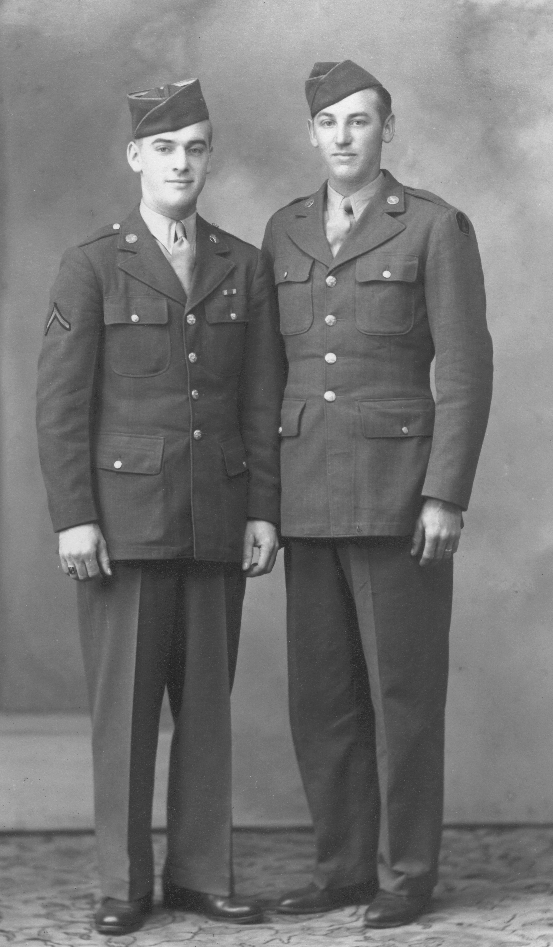 With his brother Bill. Bill was in the Battle of the Bulge and had several Purple Hearts from the experience.