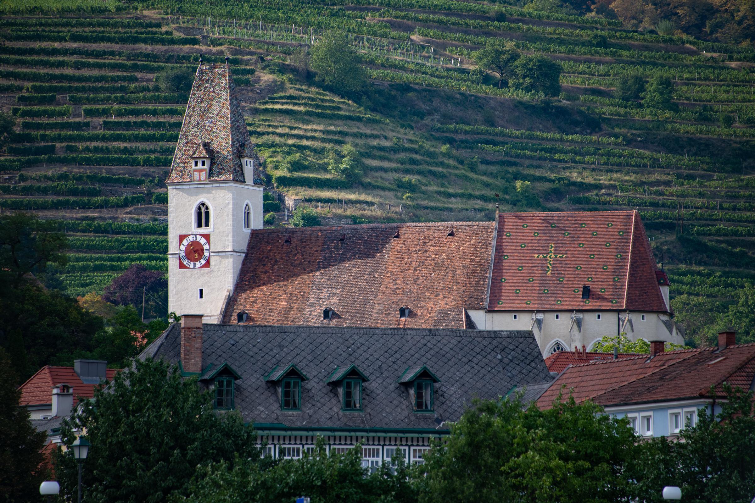 Church & vineyards, Spitz, Austria