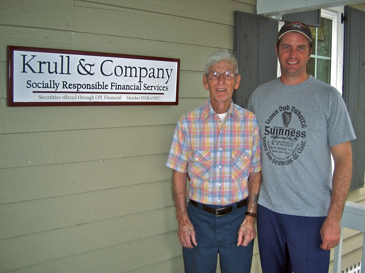My dad and I at the Krull & Company office in Darien, GA in 2008