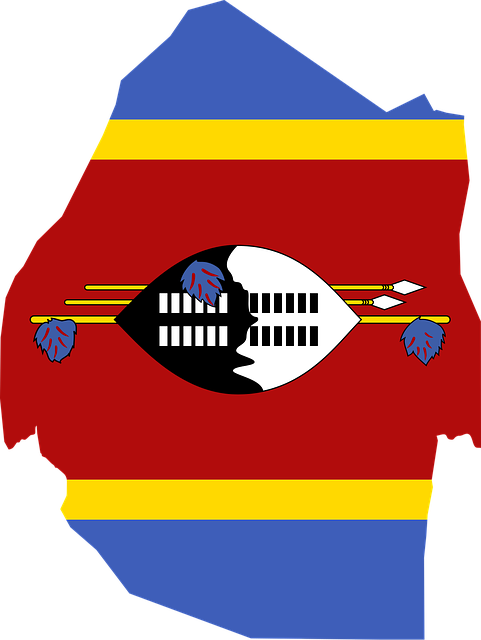 Swaziland Flag Map.png