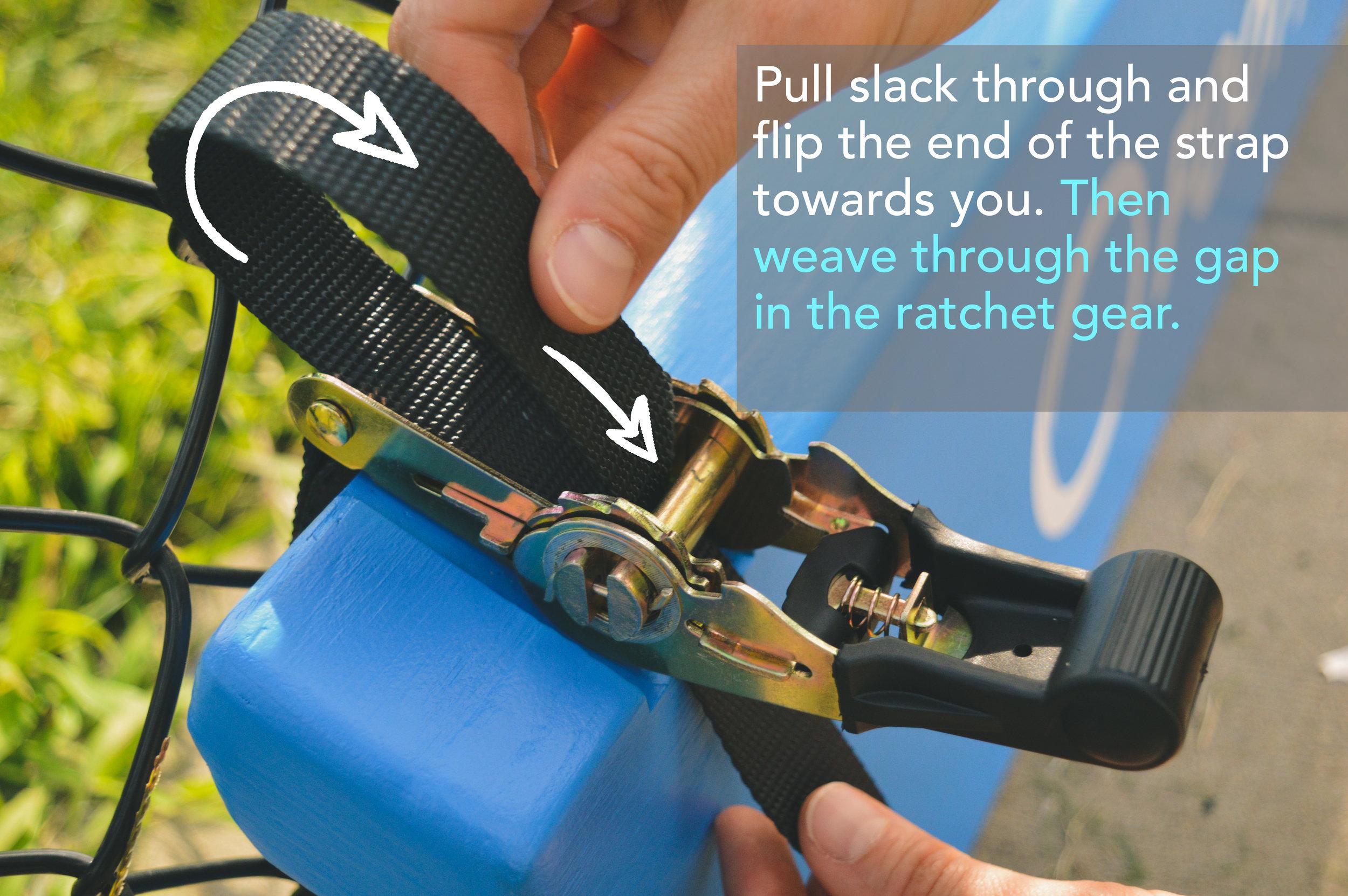 - RE-THREADING RATCHET Strap