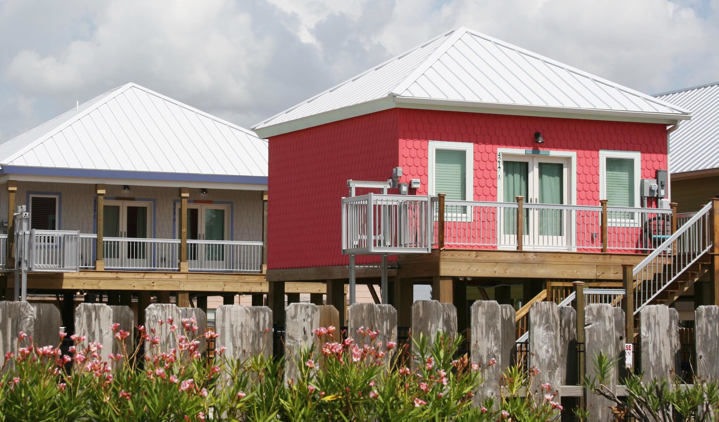 Cottages By the Bay all have views of North Beach and Corpus Christi Bay, just one block away.