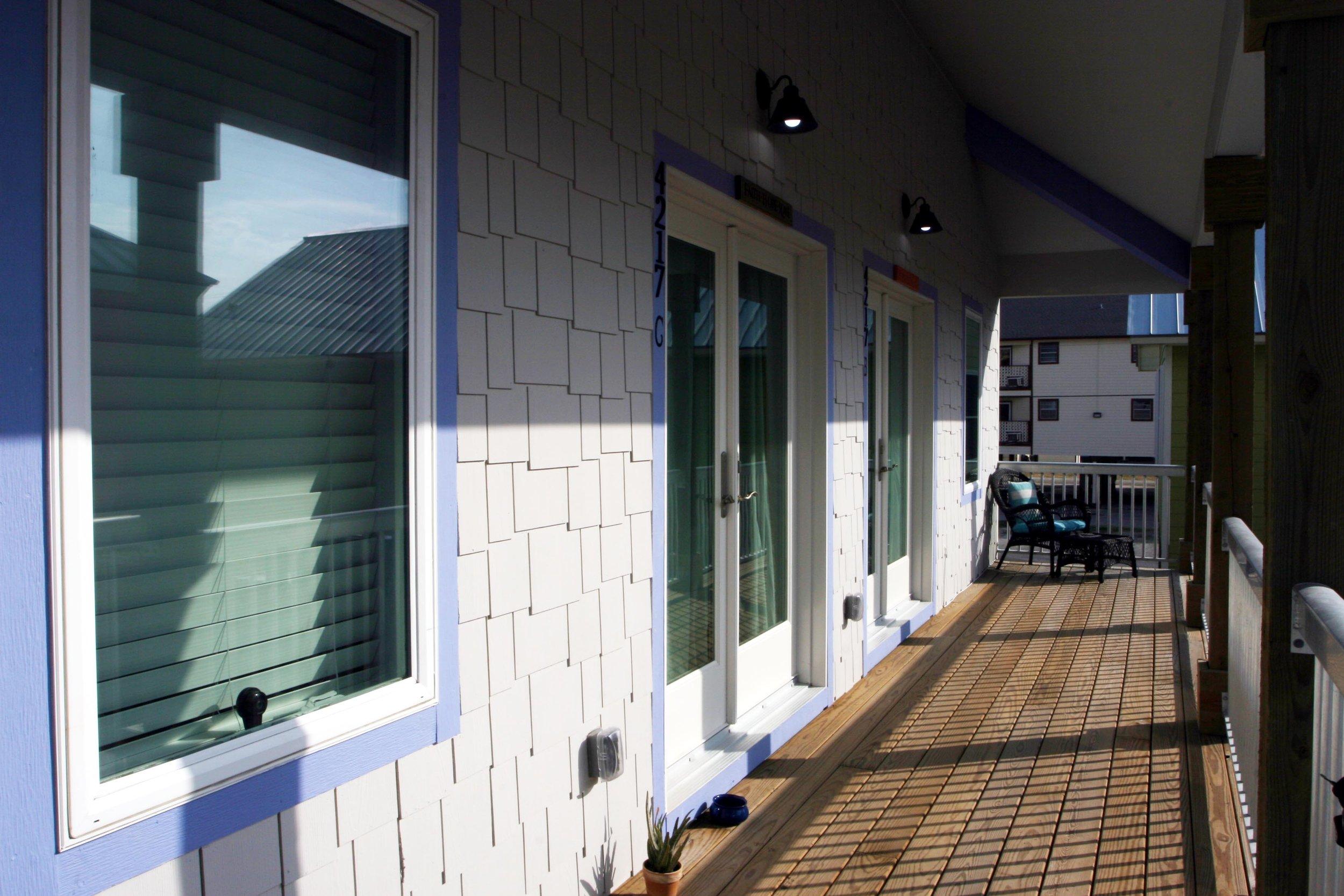 White Duplex Porch