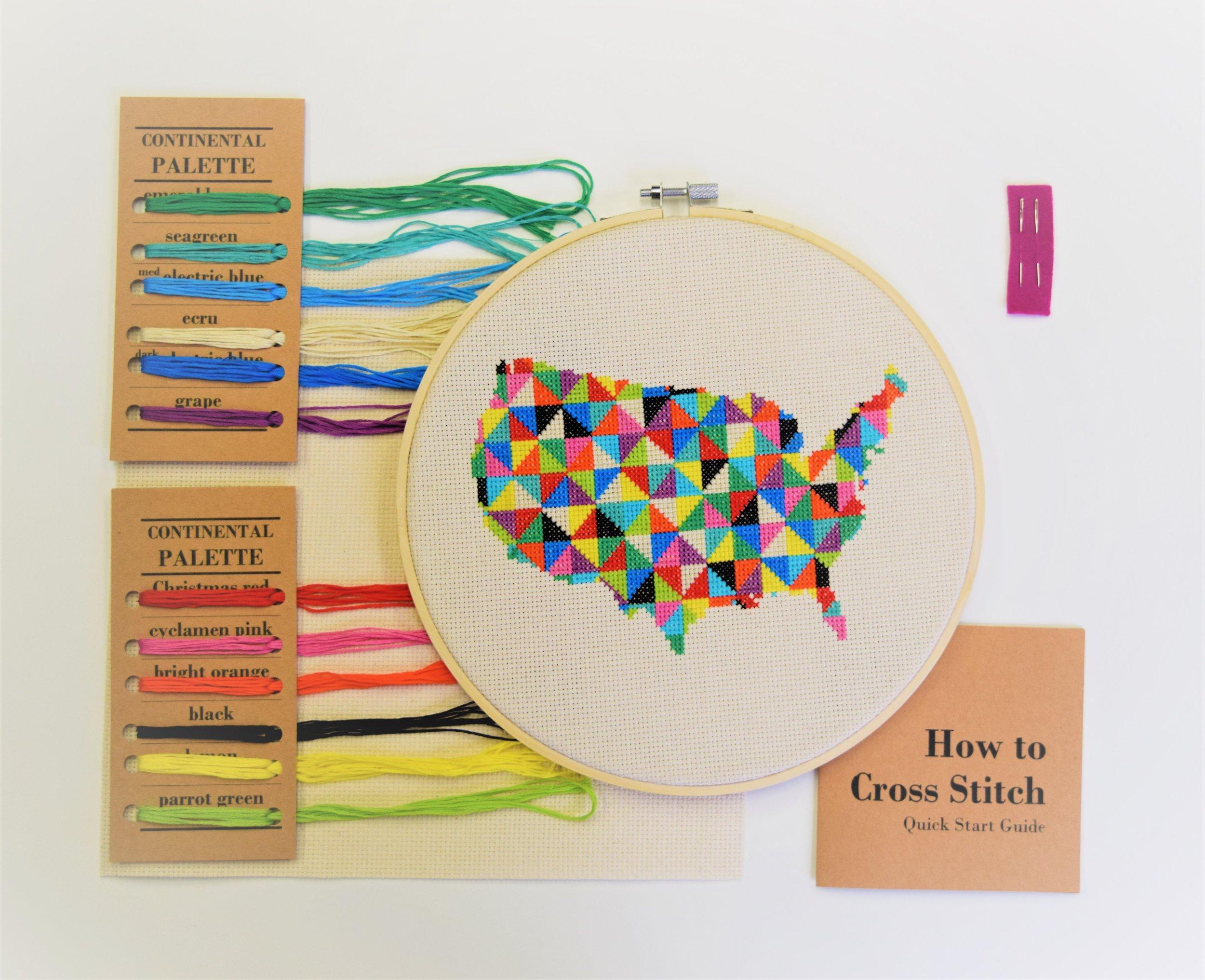 Cross Stitch Kit Contents