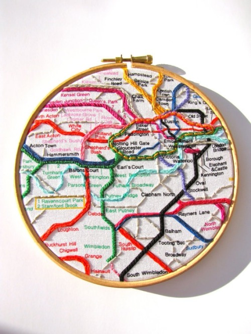 3. Subway Embroidery - mirrymirry