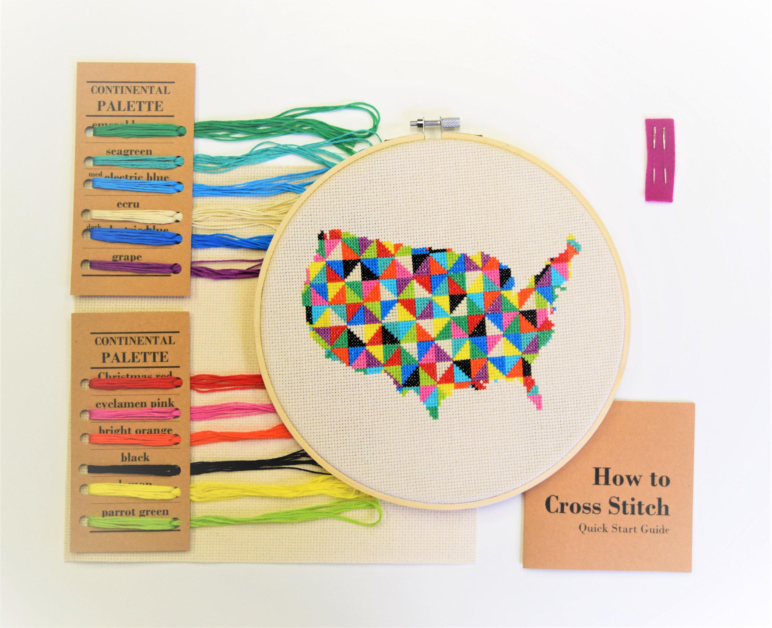 Continental Cross Stitch Kit