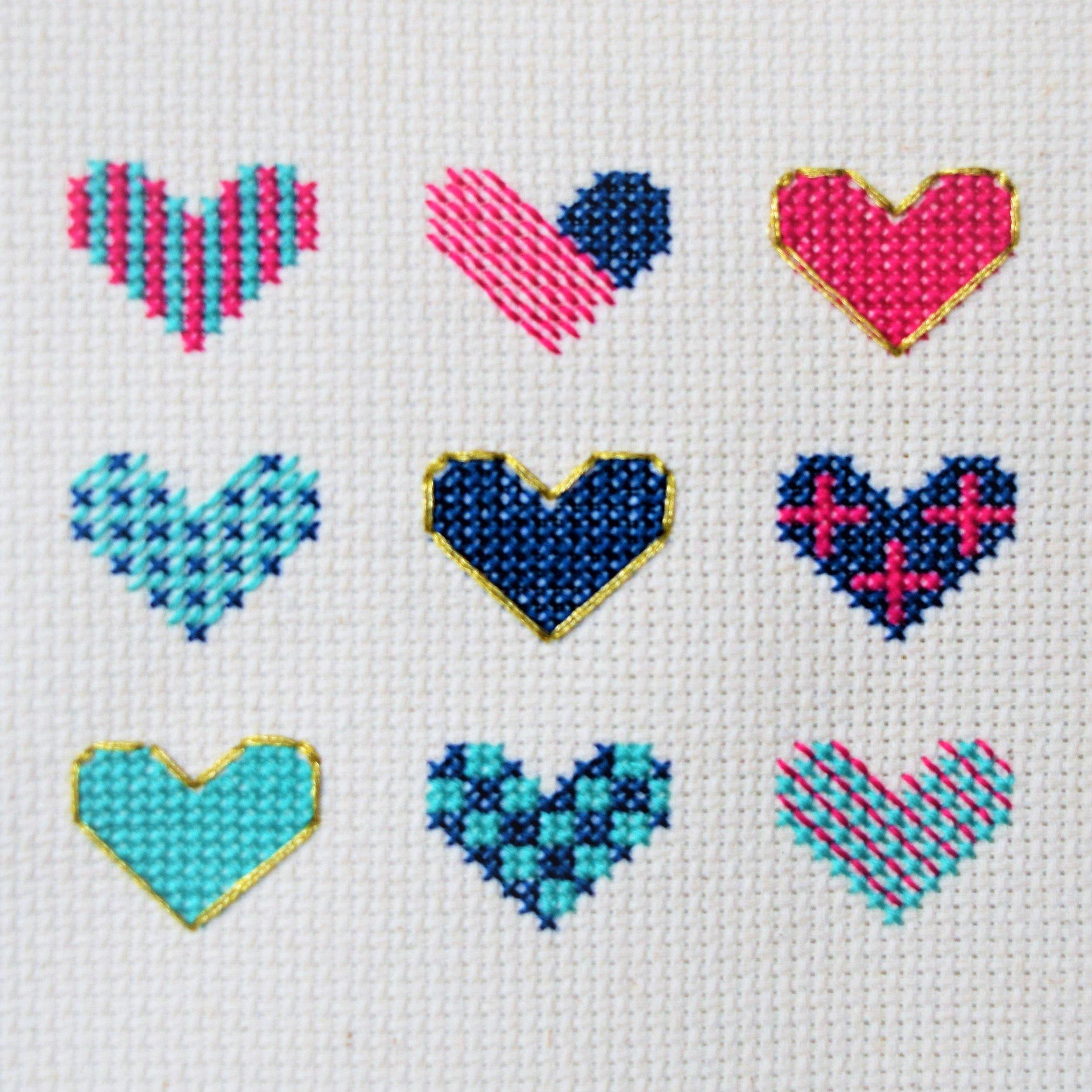 Heart Sampler | Stitch Octopus