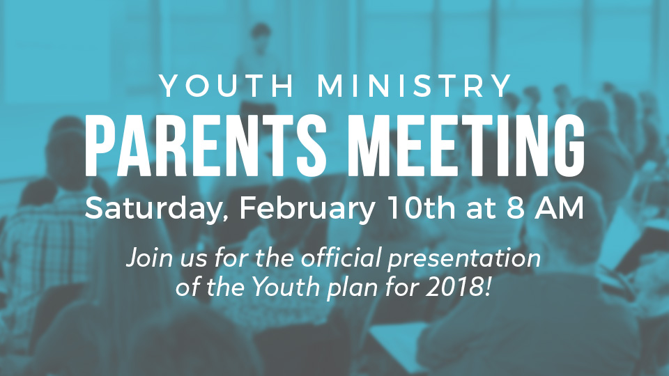 Sunset Youth Miami parents meeting.