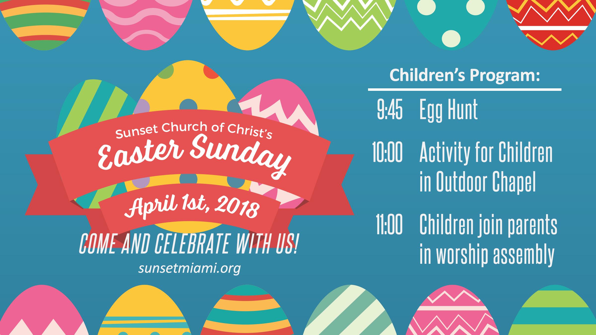 Sunset Church of Christ: Easter Sunday Egg Hunt