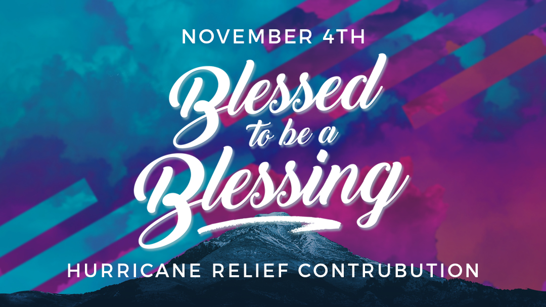 Sunset Church of Christ: Blessed to be a Blessing, special contribution to help those affected by Hurricane Michael.