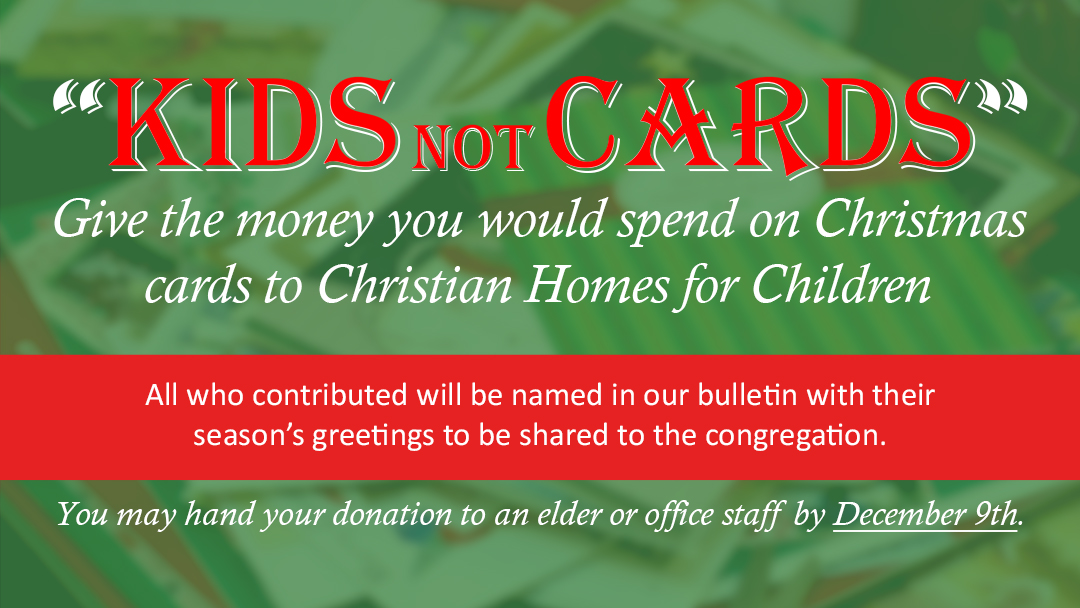 Sunset Church of Christ: Kids not Cards
