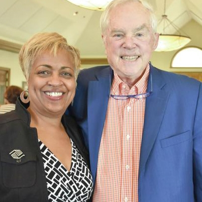 "Boys & Girls Club of Bluffton Unit Director Molly Smith with Hope & Opportunity honoree Robert ""Bob"" Burt."