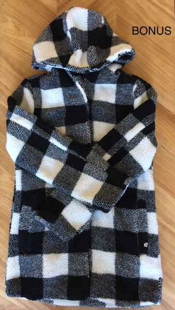 Bonus - BONUS: Black and White Buffalo plaid jacket from Billabong- again, Billabong has some awesome stuff! This jacket is warm and cozy and cute AF!