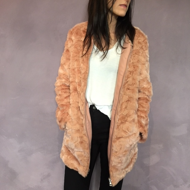 Faux Fur Jackets:  (Forever21 Pink Faux Fur) both can go over a casual outfit for a little spice or can go with really dressy outfits. Comfortable, warm, not heavy (cause they're not dead animal)