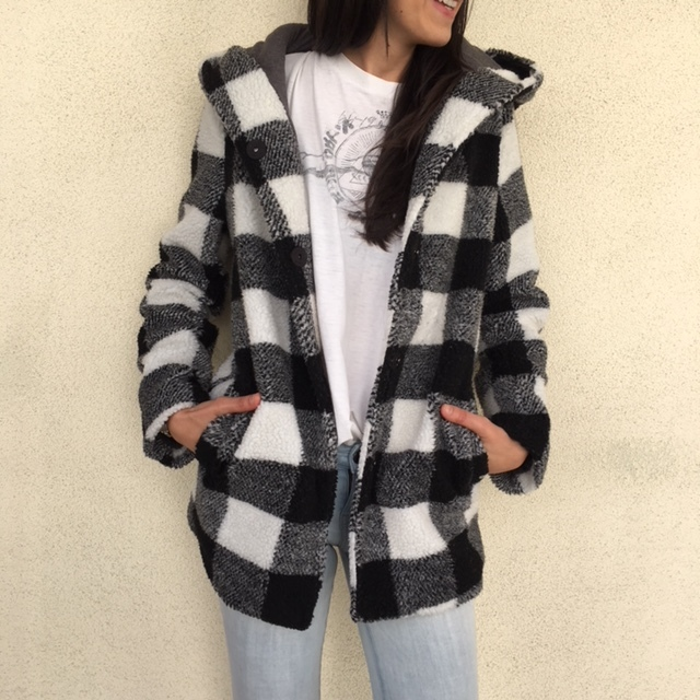 BONUS : Black and White Buffalo plaid jacket from Billabong- again, Billabong has some awesome stuff! This jacket is warm and cozy and cute AF!