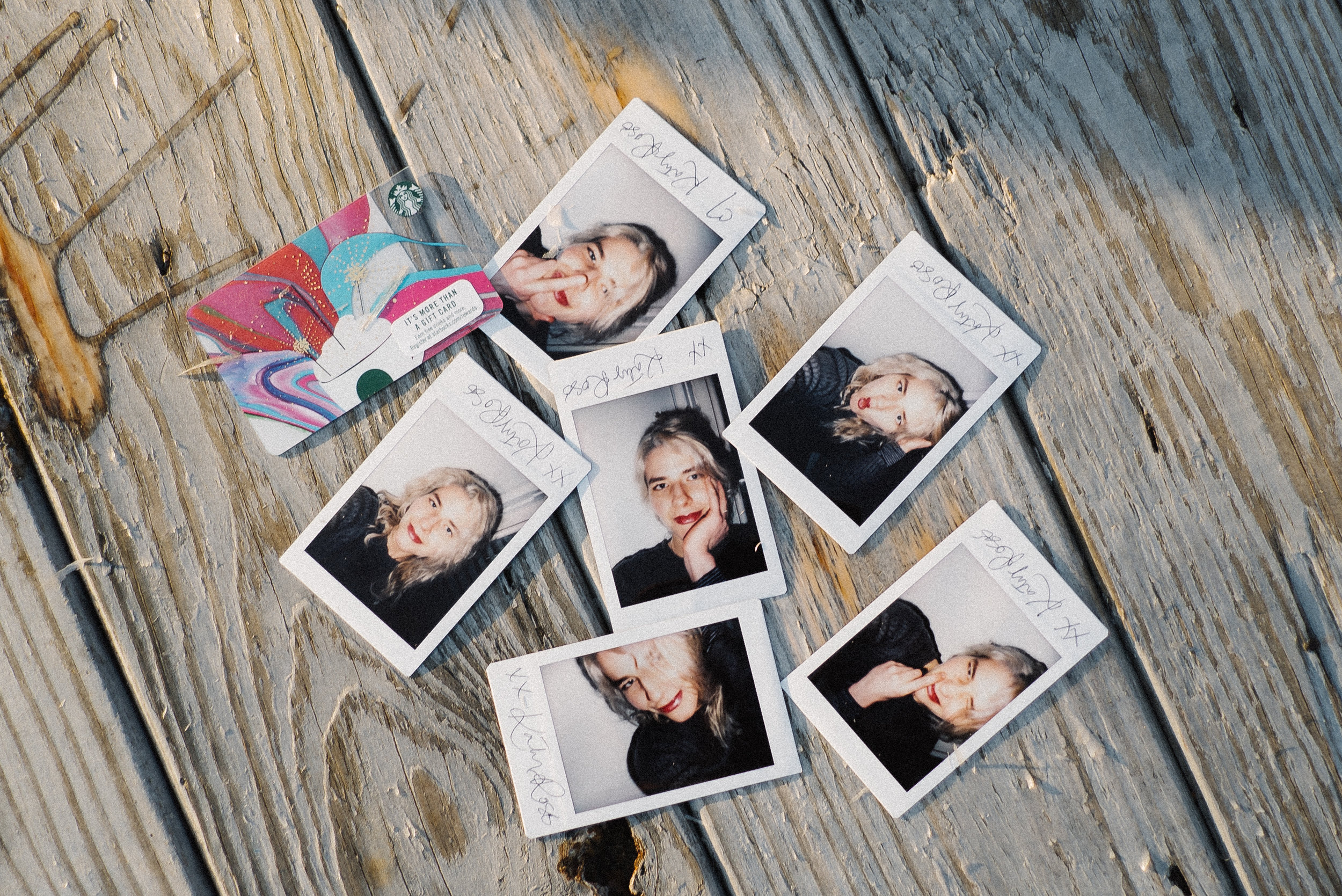 $50 Starbucks Giftcard & Polaroids - On May 1st, I'll randomly pick one person to win all 6 signed polaroids &a $50 Starbucks gift cardx Katy Rose x