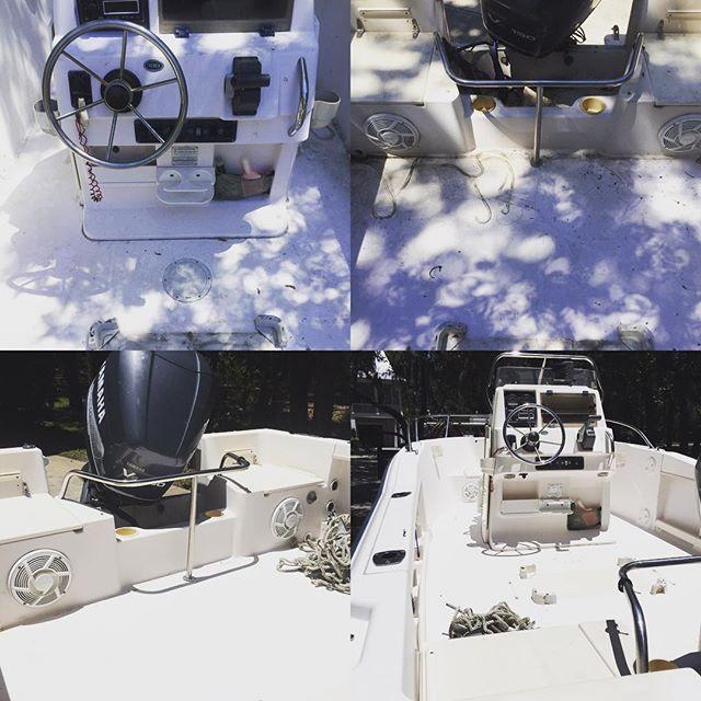 Pressure washing & boat detailing. 2 of 3 jobs complete for the day #Charleston #jamesisland #pressurewashing #windowcleaning #boatdetailing #medic #follybeach #property #headquartersisland