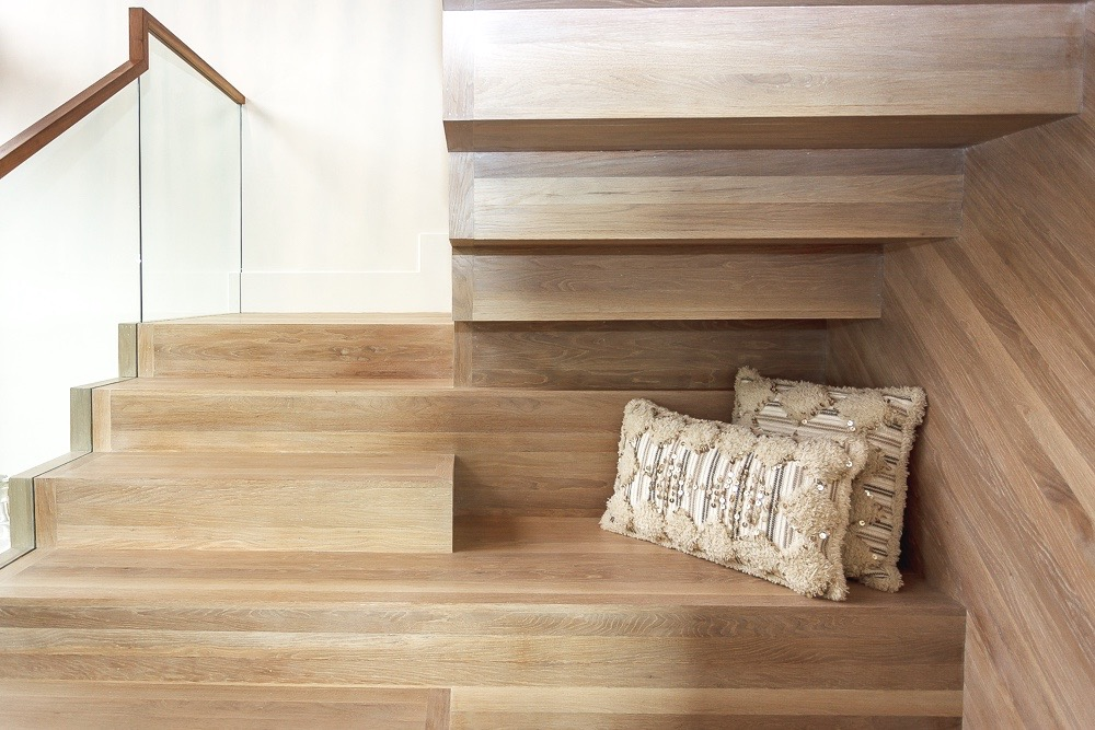 custom stained oak staircase