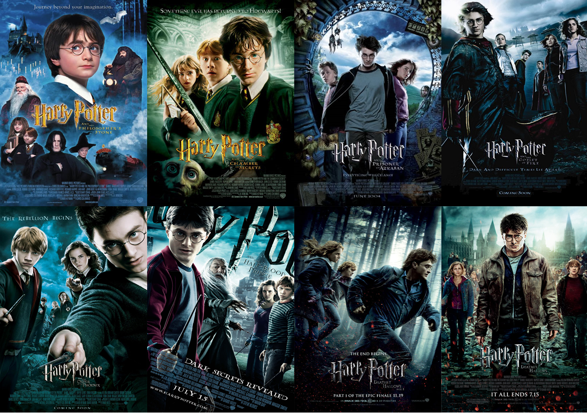 Harry Potter, la série de huit films