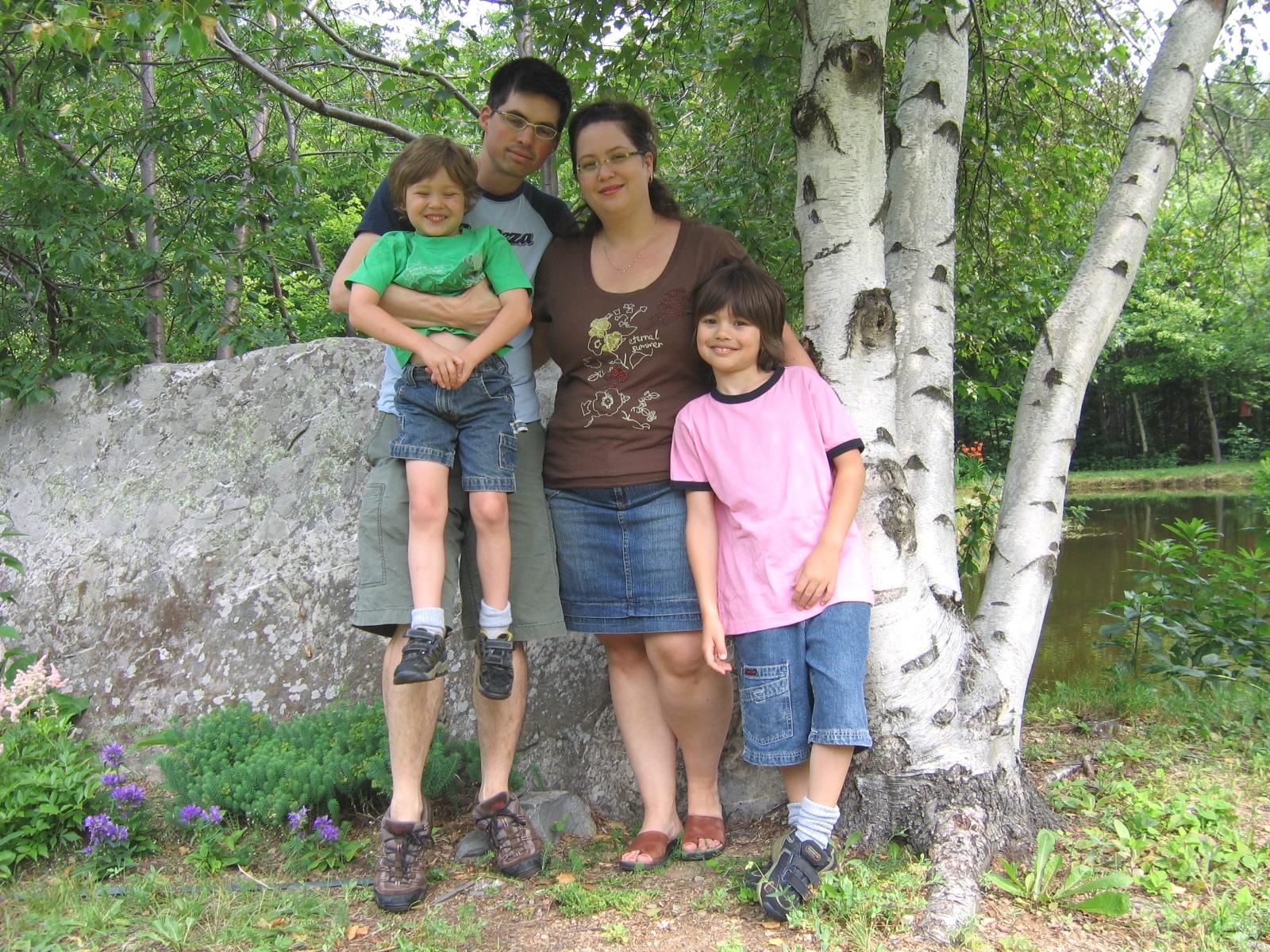Notre famille en 2006.