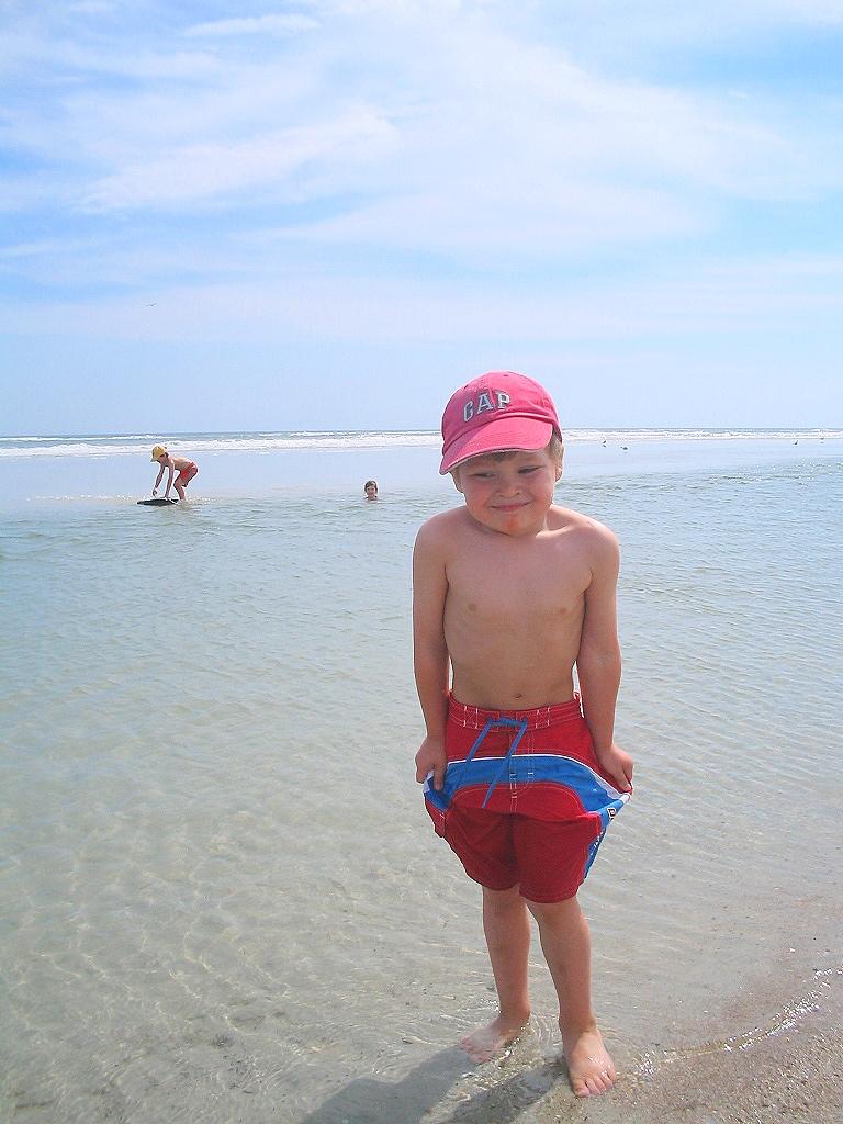 Léo à la plage en 2005