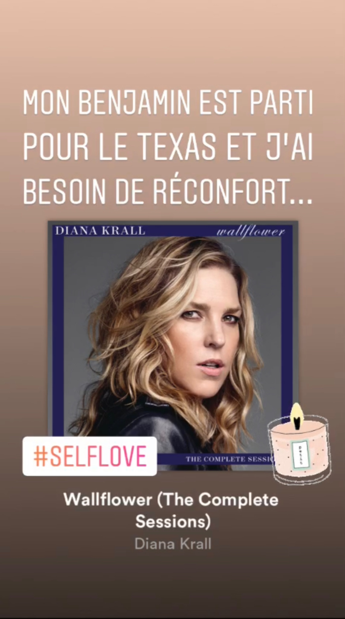 Instagram story Julie au Paradis