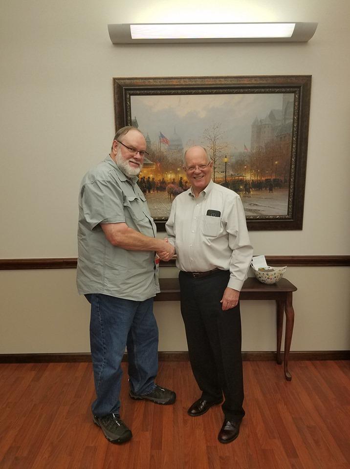 Commissioner Meyers with Fort Bend MUD133 Director Dennis Harper