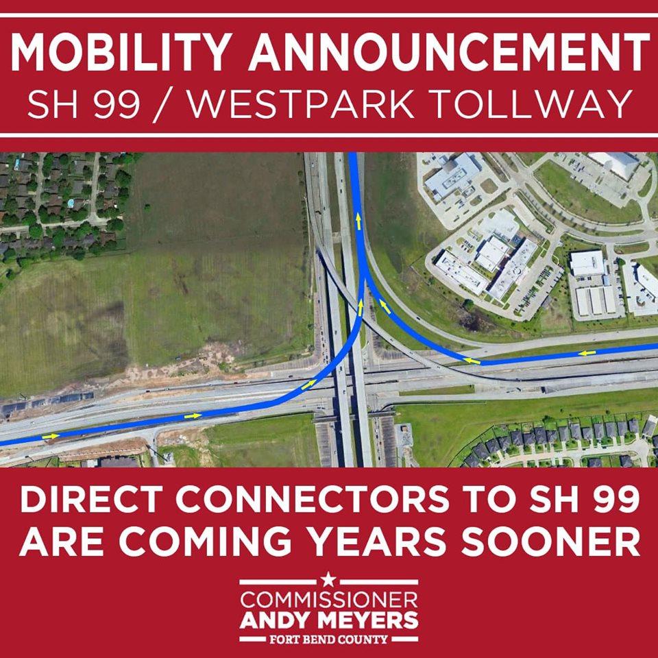 CommissionerMeyersAnnouncesGrandParkway.WestParkTollway Direct Connectors.jpg