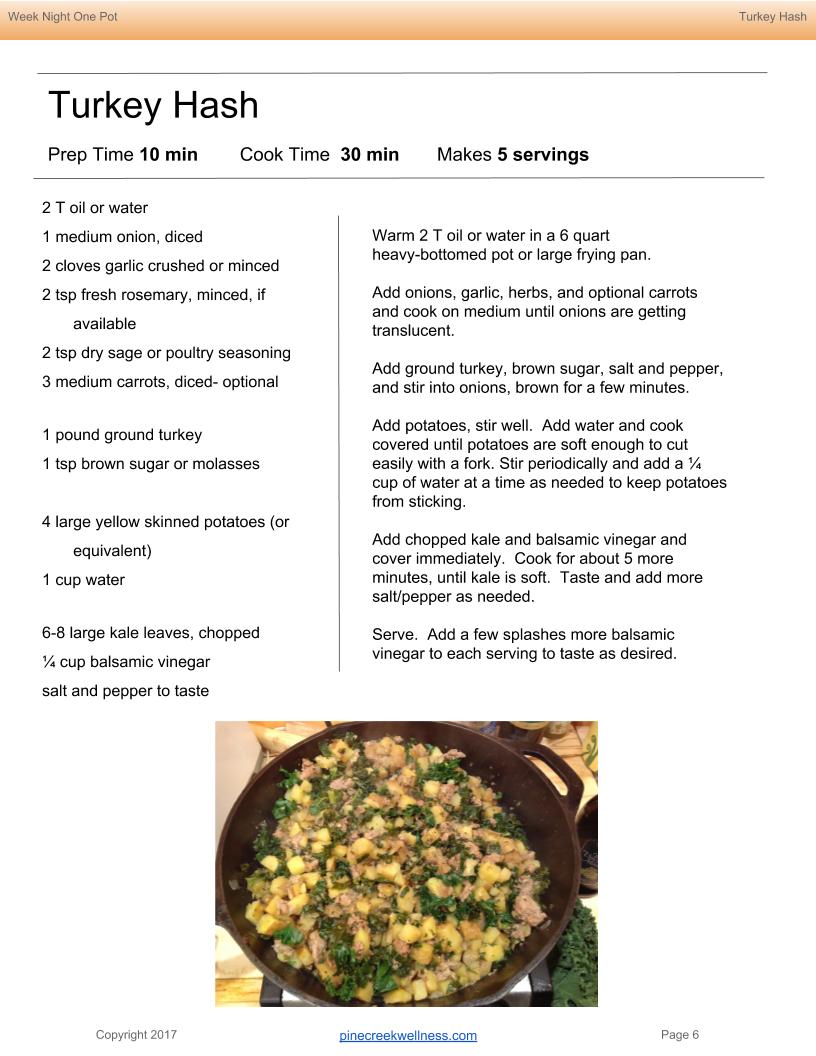 Turkey Potato Hash recipe