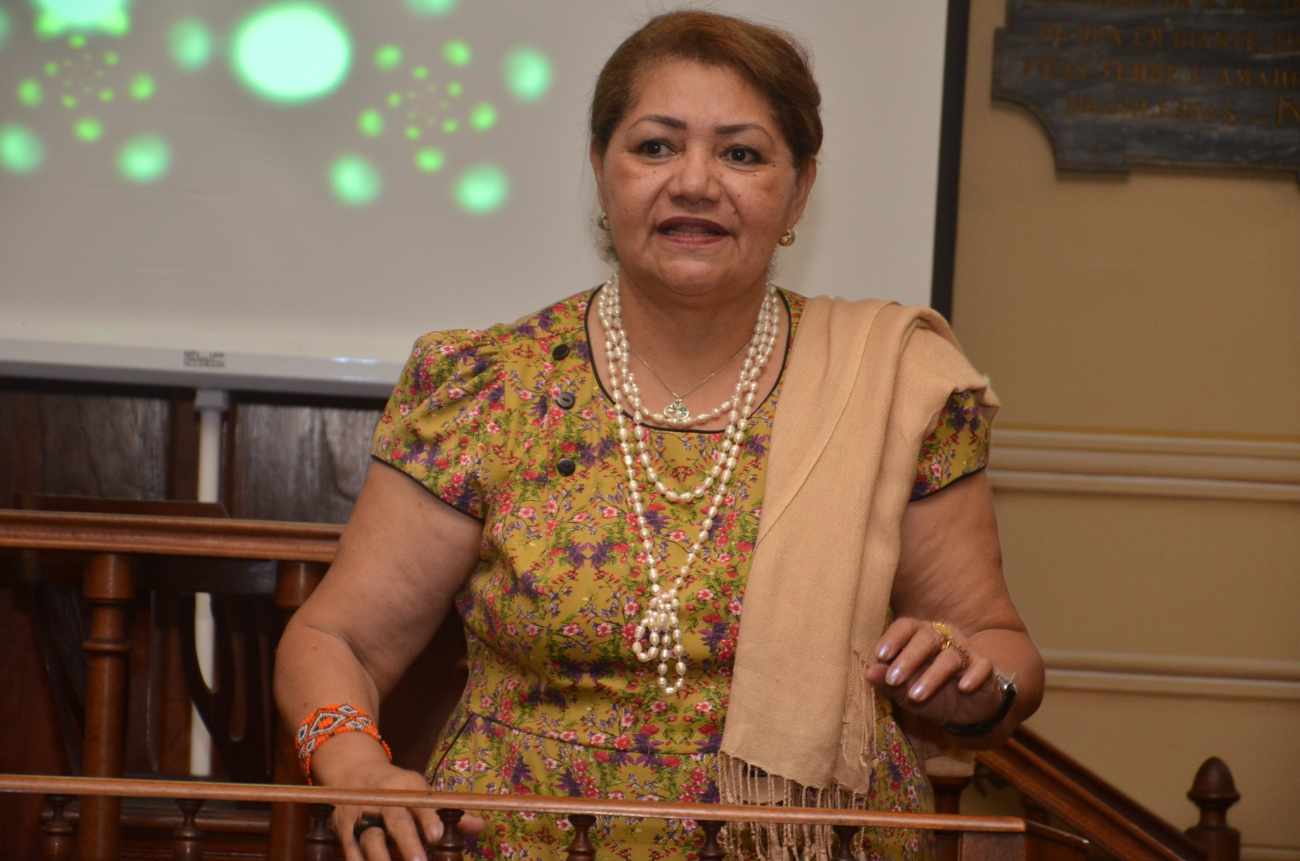 Professor Marilene Freitas given remarks on the film presentation at IGHA.