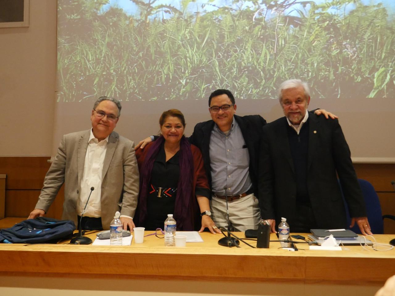 Afrânio Garcia, Marilene Corrêa, Marcos Colón and Marcus Barros in the event in Paris