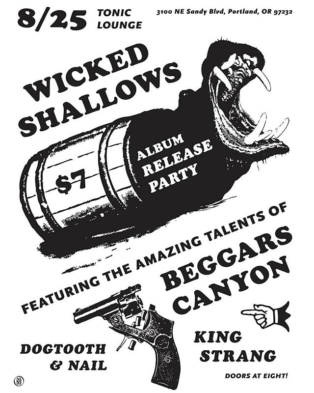 This coming Saturday! Check out our biggest show of the year with super amazing locals @beggars_canyon @kingstrangmusic @dogtoothandnail  It's going to be 🔥 ...................................................... #wickedshallows #live #band #folk #folkpunk #whiskeypunk #pdx #guitar #bass #banjo #accordion #mandolin #fiddle #beggarscanyon #kingstrang #dogtoothandnail