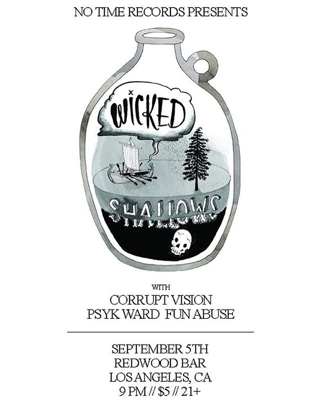 LA! Catch us on September 5th at Redwood Bar with @corruptvisionoc @psykward.official  And @fun_abuse  #folk #guitar #folkpunk #crackrocksteady #bass #show #music #live #livemusic #wickedshallows #drums #banjo #fiddle