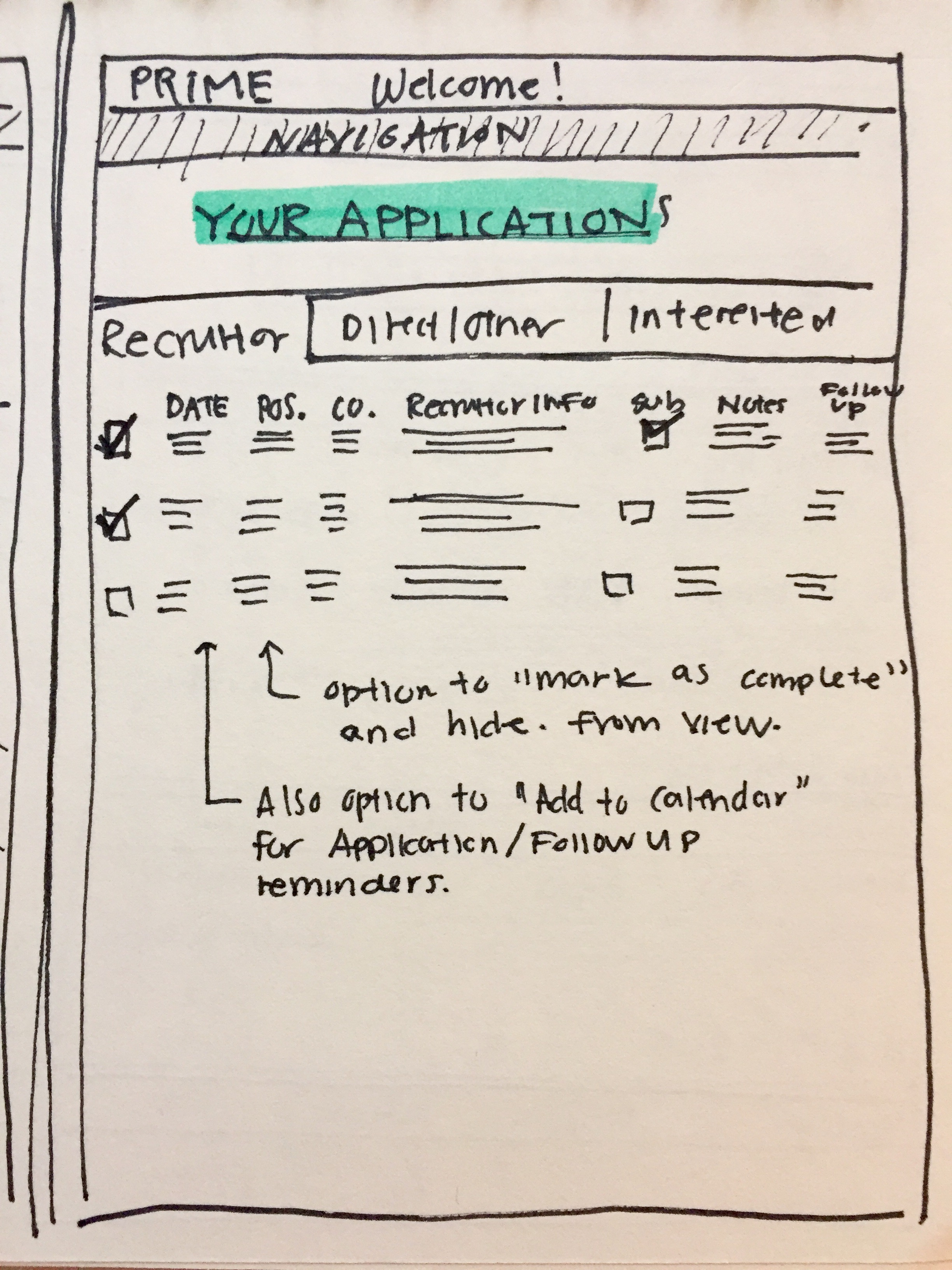 """""""Your Applications"""" Page (Student)"""