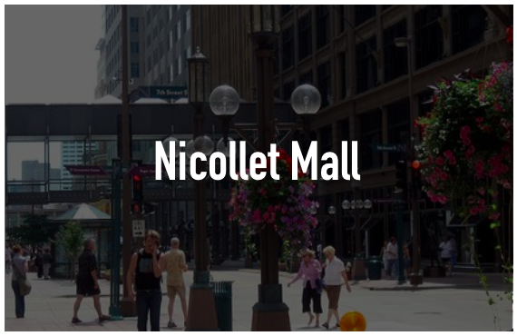 Several kiosks were present within certain department stores within Nicollet Mall. Large kiosks, not being used by any visitors.