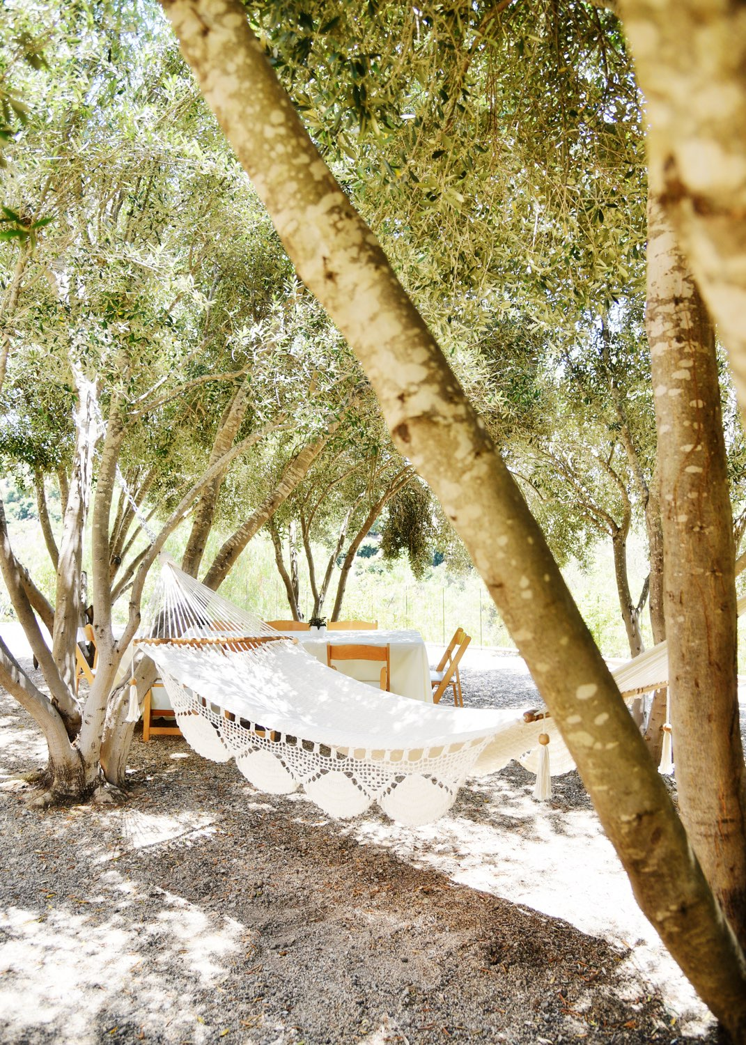 Just one of any secret, shaded spots to dream the day away.