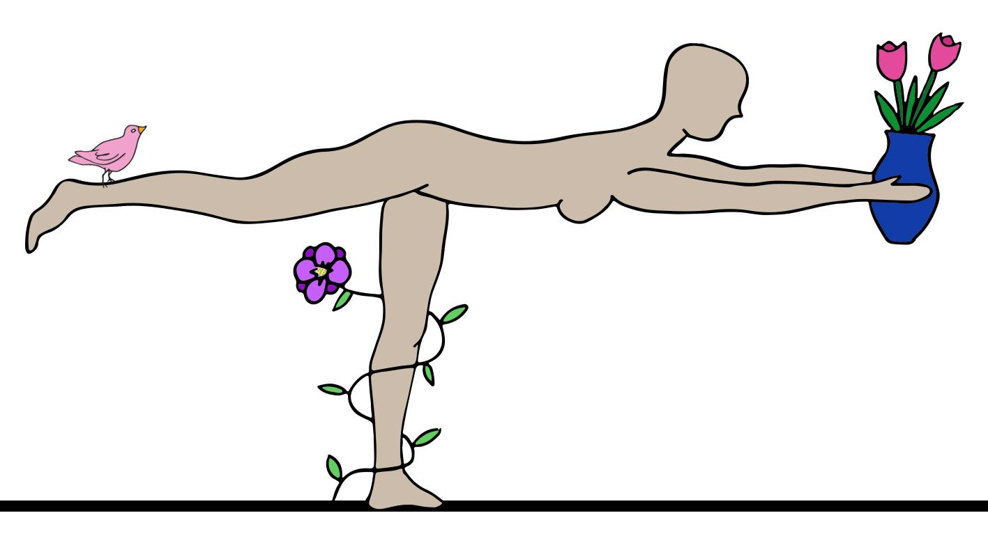 Adesso - devi imparare a stare su un piede in equilibrio con la tua testa.