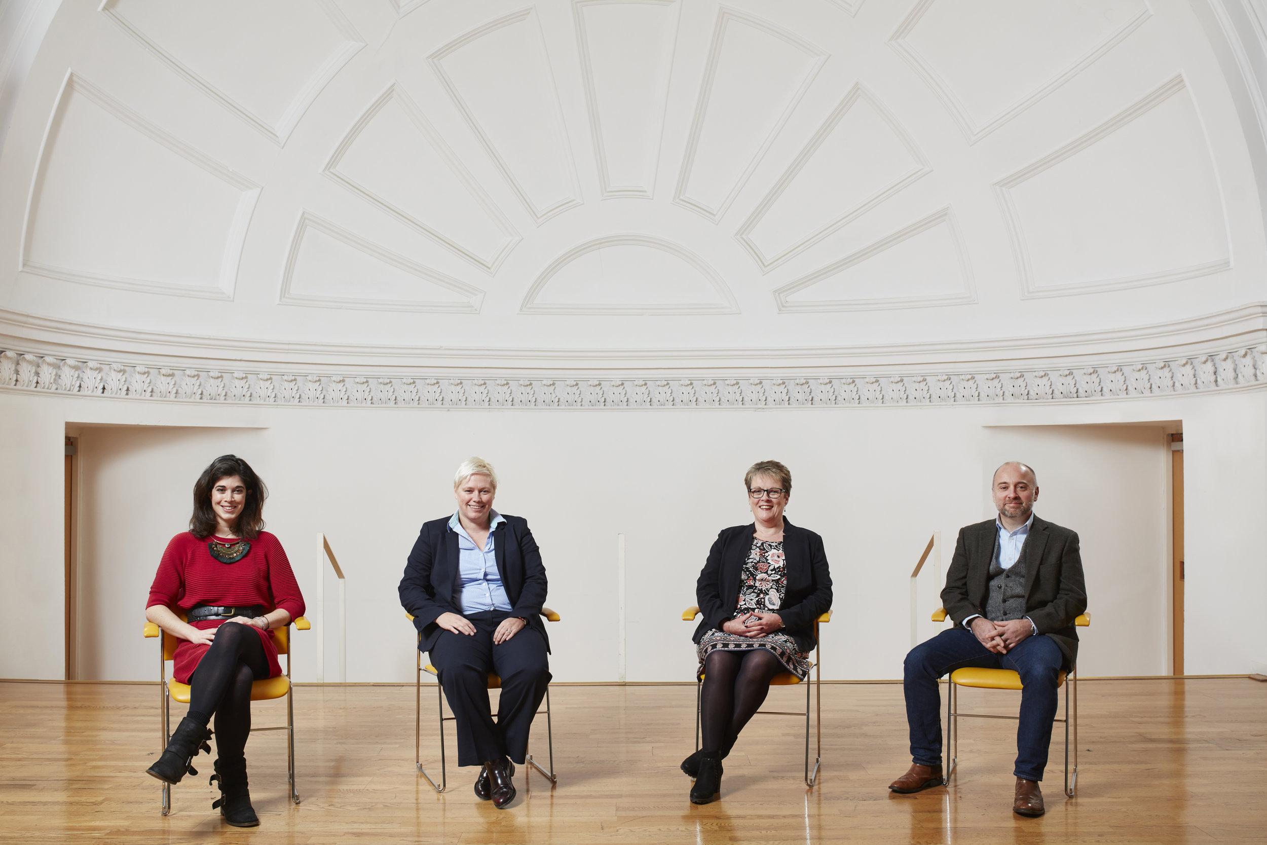 From l-r: Laurene de Peyrelongue, Merkle Aquila; Gillian Docherty, The Data Lab;Carol Sinclair, NHS NSS;Hugo D'Ulisse, SAS.